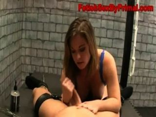 hot blonde necken und Verleugnung Blowjob