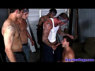 Gaysex Muskel Hunk Drench in Jizz