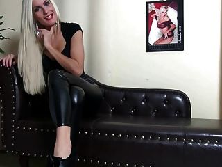 Domina Esel Anbetung Wetlook Leggins