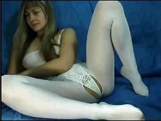 Webcam Milf in weißen Catsuit