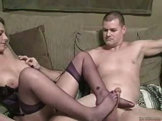 sexy blond blow job und Fuß Job
