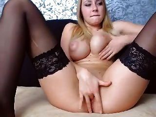 busty blonde babe webcam