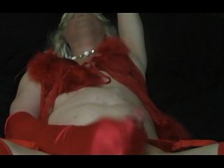 blonde n rote Satin cum