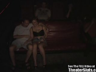 blonde hottie wit awfull tattoos gang schlug im porno theater