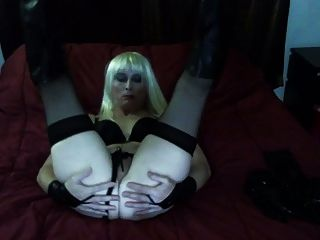 Hot Tasha in Vinyl Platin Blonde Crossdresser