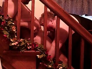 ssbbw treppe blow job