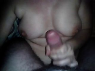 #homemademature mommy rec massive cum auf ihre Titten