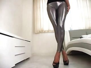 silberne Leggings bymn