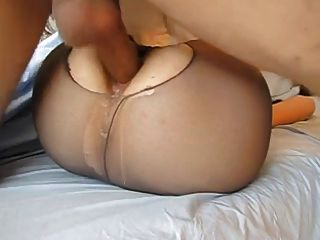 Amateur offene panty anal fuck creampie