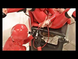 Therc Matron In Redrubber Doubleballoon Katheter Pissparty