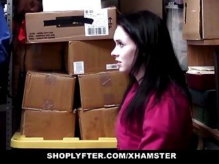 Shoplyfter Shop hebt Teen fickt Offizier
