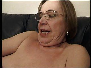 Lesbian mature grandmother trio